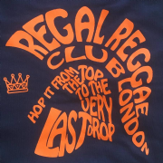 REGAL REGGAE CLUB T-SHIRT NAVY & ORANGE